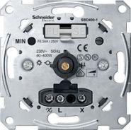Merten Мех Светорегулятор поворотный 40-400Вт/ВА для л/н и обм тр-ров