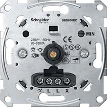 Merten Мех Светорегулятор поворотный 20-630Вт для л/н и эл тр-ров