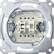 Merten Мех QuickFlex Выключатель 2-клавишный кнопочный с самовозвратом 1НО/1НЗ, 10А