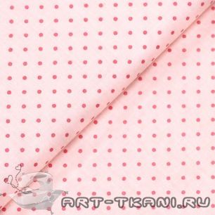 """Ткань """"Горошек на розовом """" хлопок 100%"""