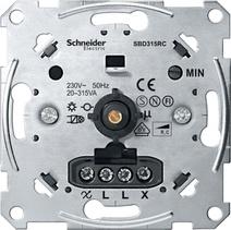 Merten Мех Светорегулятор поворотный 20-315ВА для л/н и эл тр-ров