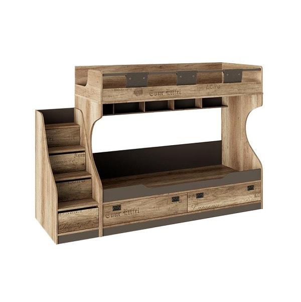 Кровать «Пилигрим» двухъярусная (с приставной лестницей)