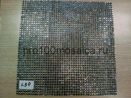 "L30. Мозаика серия ""Стразы"" 5*5, размер, мм: 300*300*3 (Happy Mosaic)"