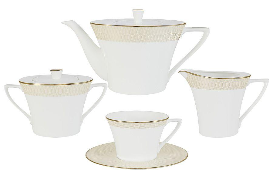 "Чайный сервиз на 6 персон ""Бриз Голд"", 17 пр."