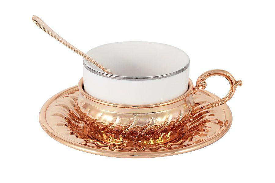 Чайный набор Stradivari с отделкой под розовое золото
