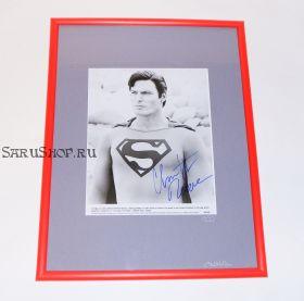 Автограф: Кристофер Рив. Супермен / Superman. Фото 1987 года. Редкость
