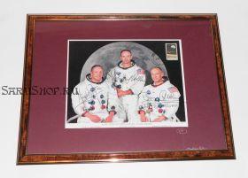 Автографы: экипажа «Аполлон-11» - Нил Армстронг, Базз Олдрин, Майкл Коллинз. Редкость.