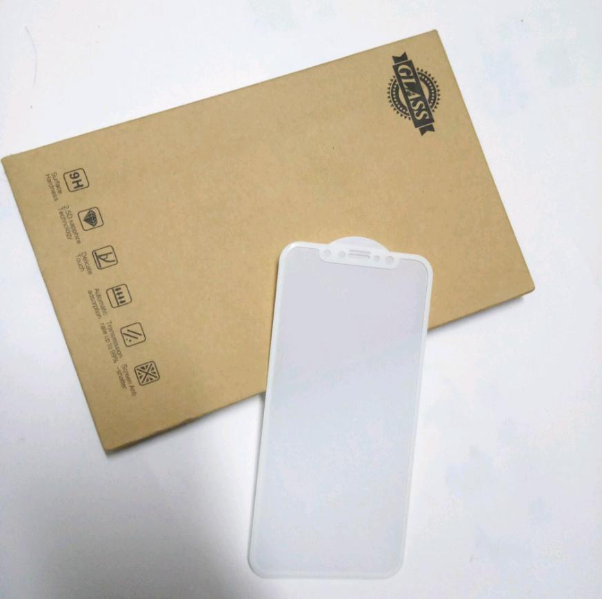 Защитное стекло 3d для iPhone X (Белое)