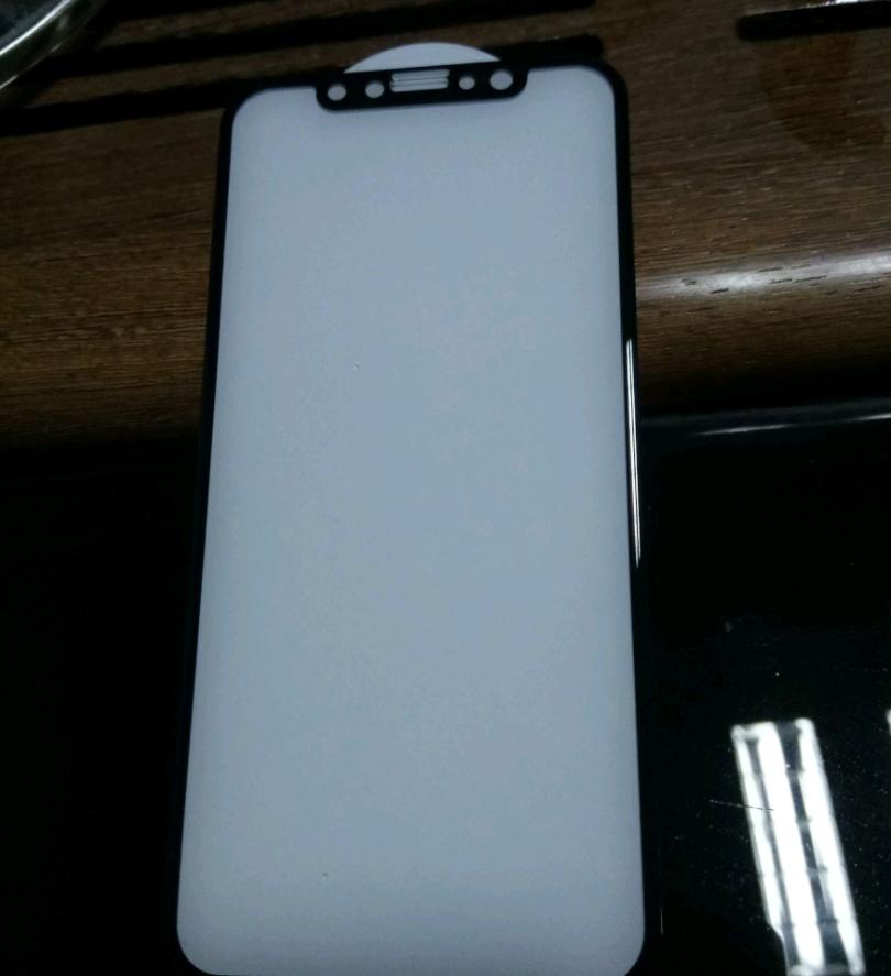 Защитное стекло 3d для iPhone X (Черное)