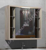 Зеркало- шкаф Лестер 90 для ванной из массива березы с подсветкой