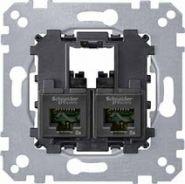 Merten Коннектор 2XRJ45 CAT6 UTP