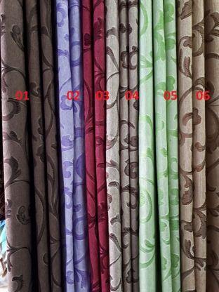 Портьерная ткань микро-жаккард цвета в ассортименте
