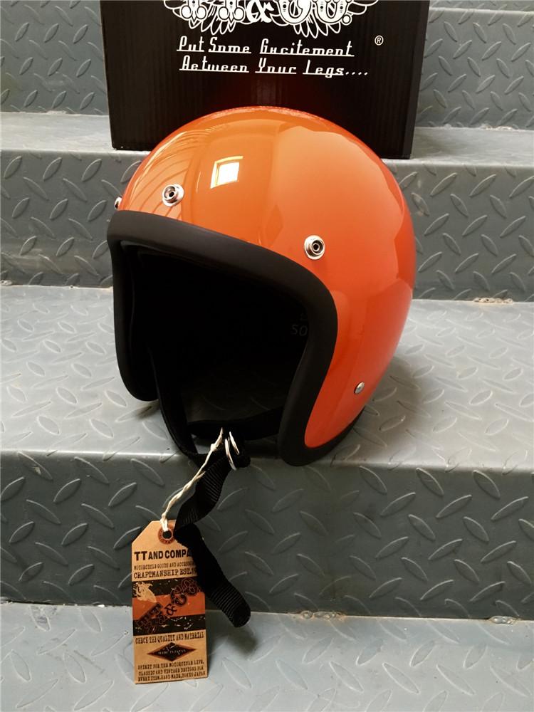 Открытый мотошлем Ретро BornFree 500TX Оранжевый