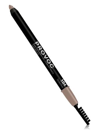 Provoc Подводка-карандаш гелевая для бровей 104 Светло-коричневый
