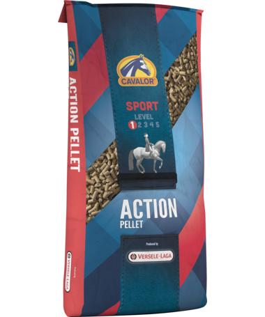 Action Pellet мюсли для спортивных, активных и молодых лошадей, без овса 20 кг Cavalor