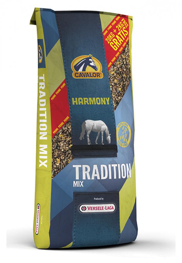 Tradition Mix мюсли для лошадей в состоянии покоя или несущих легкую работу 22 кг Cavalor