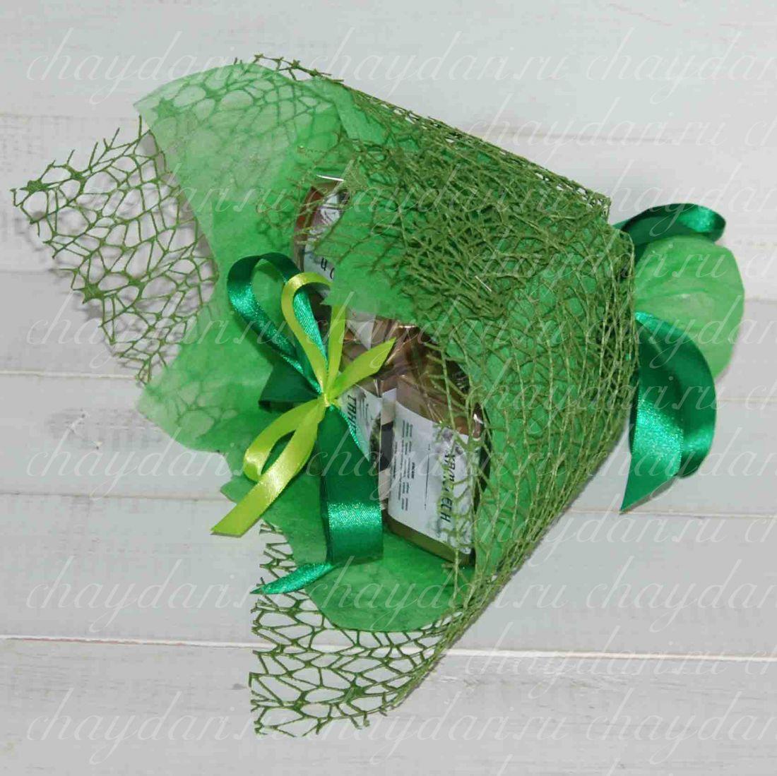 """Букет из чая """"Зеленые листья"""""""