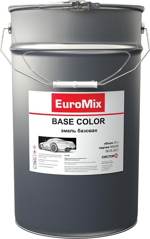 EuroMix Эмаль EUROMIX базовая чёрный (1 л)