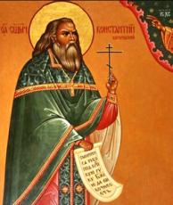 Константин Богородский (рукописная икона)