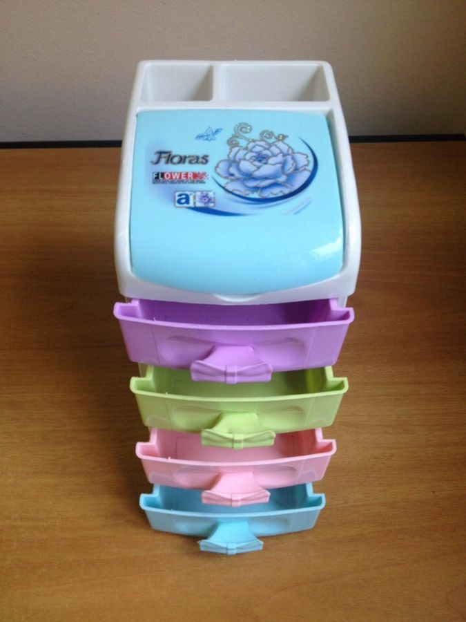 Пластиковая шкатулка-комод Floras 4 яруса