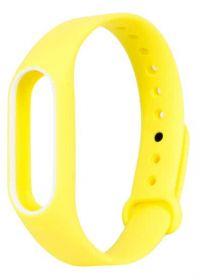 Ремешок для браслета Xiaomi Mi Band 2 желтый с белым