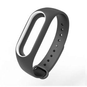 Ремешок для браслета Xiaomi Mi Band 2 черный с белым