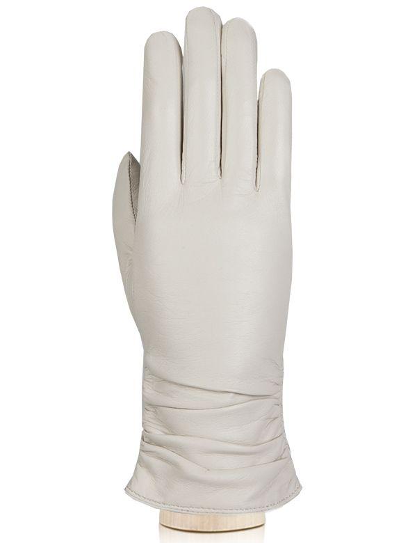 Кожаные перчатки со сборкой на манжете LABBRA
