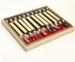 Набор японских резцов Kawakioy-Nori 10шт (ротанговая обмотка, деревянный ящик) М00010464