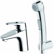 Смеситель для умывальника с гигиеническим душем Bravat Drop-D