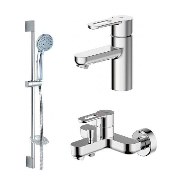 Комплект для ванной комнаты Bravat Stream-D 3 в 1