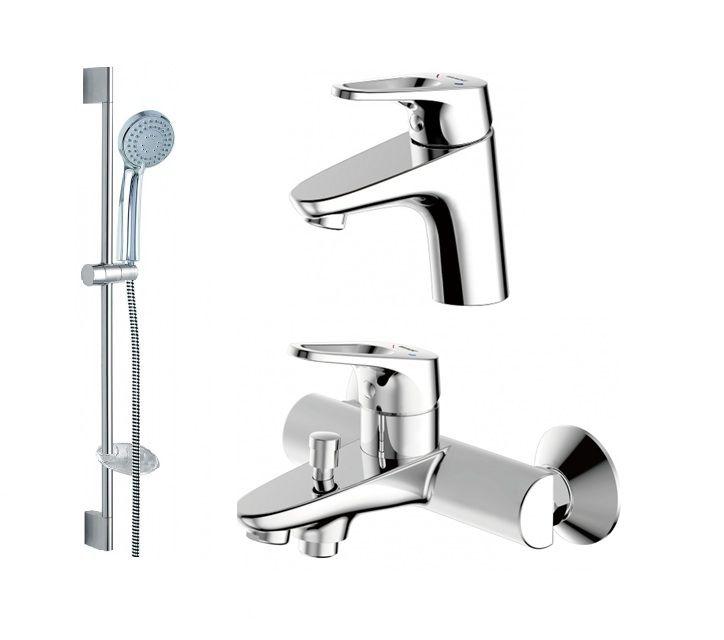 Комплект для ванной комнаты Bravat Drop-D 3 в 1