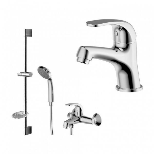 Комплект для ванной комнаты Bravat Fit 3 в 1