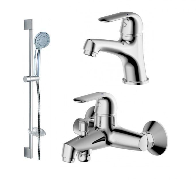Комплект для ванной комнаты Bravat Simple 3 в 1