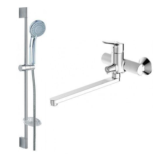 Комплект для ванной комнаты Bravat Drop 2 в 1