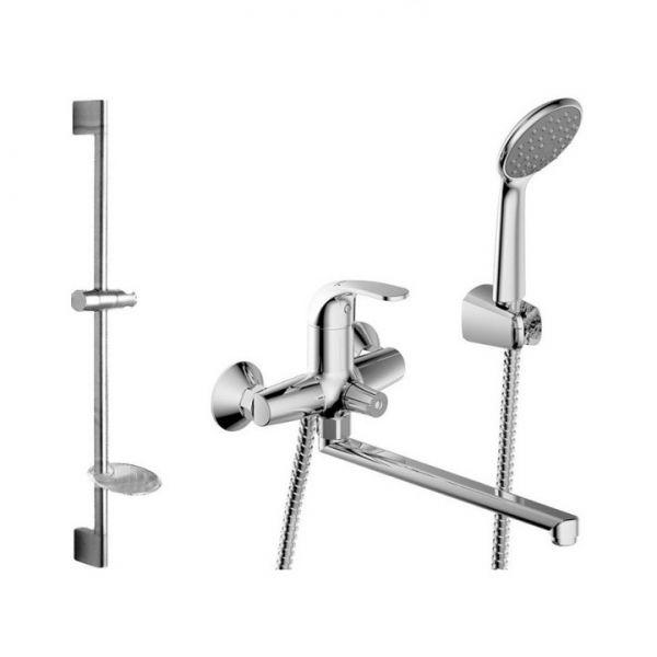 Комплект для ванной комнаты Bravat Fit 2 в 1