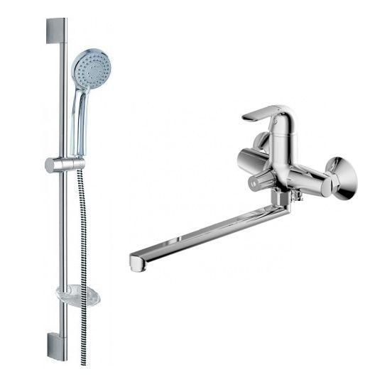 Комплект для ванной комнаты Bravat Simple 2 в 1