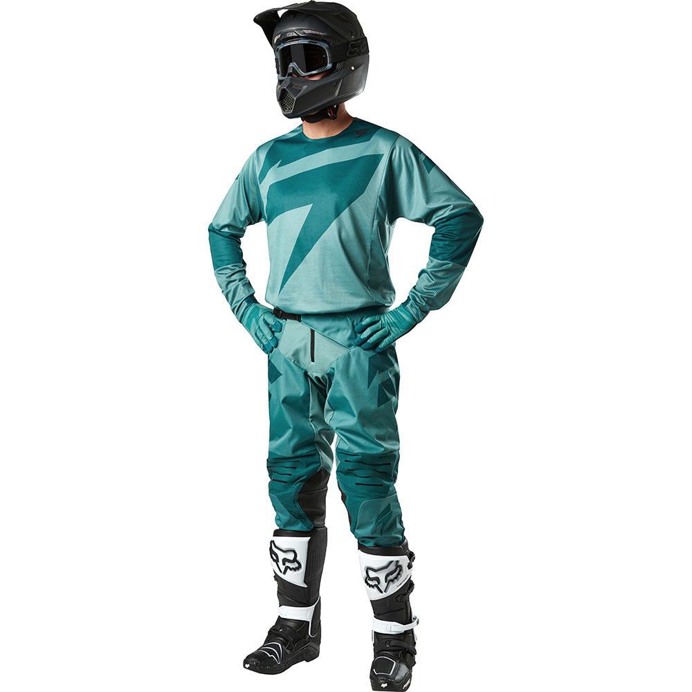 Shift - 2018 3Lack Label Mainline комплект джерси и штаны, сине-зеленые