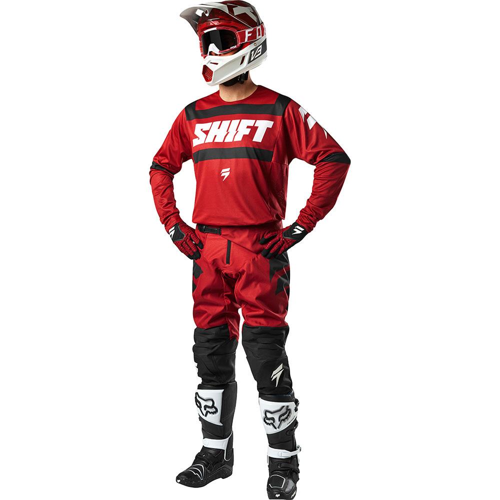 Shift - 2018 3Lack Label Strike комплект джерси и штаны, темно-красный