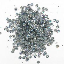 Конфетти блёстки круглые, серебро, 17 гр