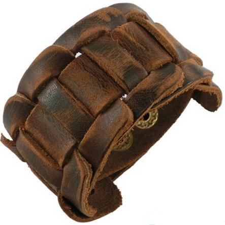 Кожаный браслет мужской