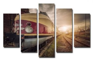 Модульная картина Поезд на рассвете