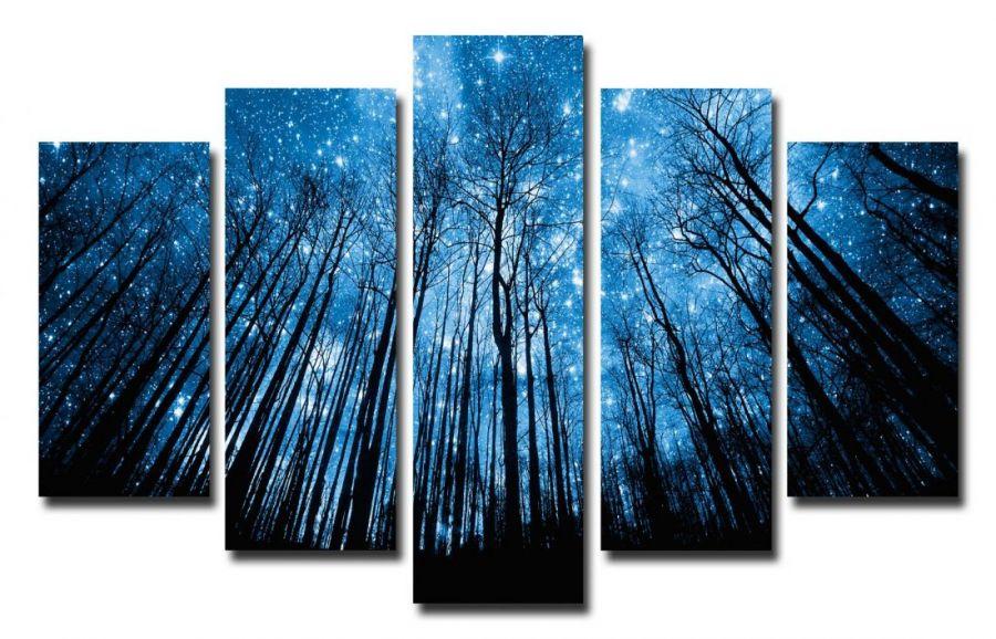 Модульная картина Звездная ночь