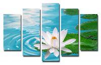 Модульная картина Лотос в воде