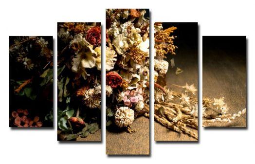 Модульная картина Осенний букет