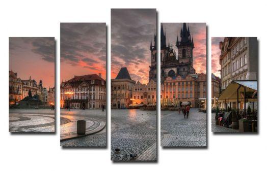 Модульная картина Площадь Праги