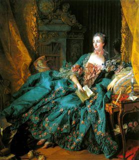 Портрет мадам Помпадур ( Репродукция Франсуа Буше)