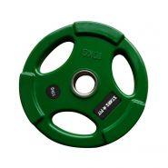 Диск олимпийский обрезиненный зелёный Grome 10 КГ, D 51 WP074-10 КГ
