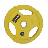 Диск олимпийский обрезиненный жёлтый Grome 15 КГ, D 51 WP074-15 КГ