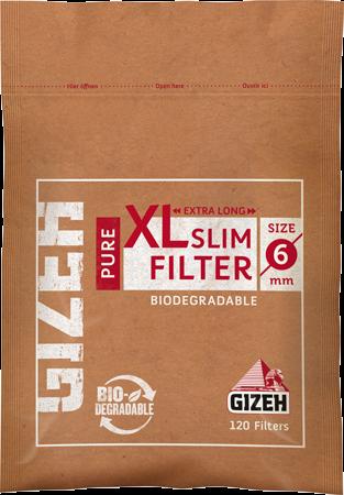 Фильтры сигаретные Gizeh Slim XL PURE