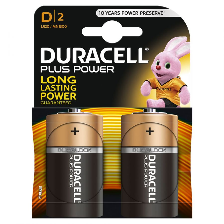 Батарейка алкалиновая DURACELL LR20/2B (2 шт. на блистере)